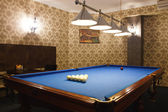 Interior of the billiard room — Stock Photo