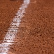 Baseball Chalk Line to First Base — Stock Photo