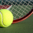 Постер, плакат: Tennis Ball and Racket