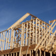 New House Frame under Construction — Stock Photo #8792692