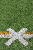 Football Field Kick Off Marker — Stock Photo