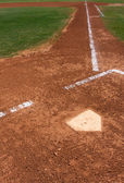 Baseball Field at Home Plate — Stock Photo