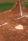 Baseball Field at Home Plate — Stock Photo