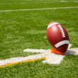 American Football teed up for kickoff — Stock Photo #8950691