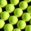 Rows of Tennis Balls — Stock Photo #8950699