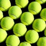 Rows of Tennis Balls — Stock Photo