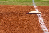 Baseball First Base — Stock Photo
