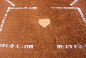 Baseball Field Home Plate — Stock Photo