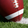 Football close up on Field — Stock Photo #9135618