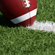 Football close up on Field — Stock Photo #9135619