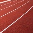 Curve of a Red Running Track — Stock Photo #9135710