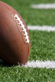 Football close up on Field — Stock Photo