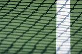 Tennis Court Line with Net Shadow — Stock Photo