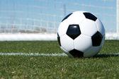 Bola de futebol perto do fim — Foto Stock