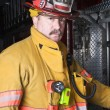 Stock Photo: Firefighter Portrait
