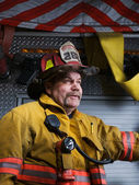 Firefighter Portrait — Stock Photo