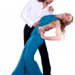 Young man and woman dancing — Stock Photo #9794644