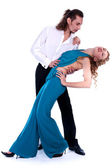 Young man and woman dancing — Stock Photo