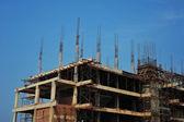 Canteiro de obras com aço concreto — Foto Stock