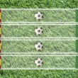 Plasticine Football flag on grass background for score (Group C) — Foto Stock