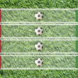 Plasticine Football flag on grass background for score (Group C) — Stock fotografie