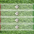Plasticine Football flag on grass background for score (Group C) — Stockfoto
