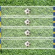 Plasticine Football flag on grass background for score (Group D) — Foto de stock #10625025