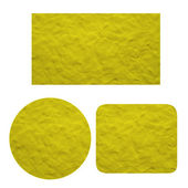 Plasticine Set of blank yellow label on white background, isolated — Stock Photo