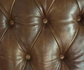 Closeup texture of leather sofa for background — Stock Photo