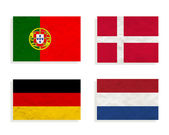 Plasticine Football on white background for euro 2012 (Group B) — Stock Photo