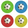 Plasticine Color Football on white background — Stock Photo