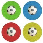 Plasticine Color Football on white background — Stock Photo