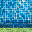 Stock Photo: Green grass with pool texture and background