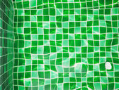 Refection of green water in Swimming pool — Stock Photo