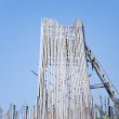 Bamboo building site of thailand — Stock Photo