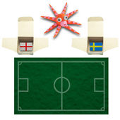 Squid Football with the flag Sweden and England — Stok fotoğraf