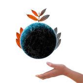 Strom na zemi environmentálních — Stock fotografie