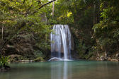 Waterfall from kanjanaburi province of thailand — Stock Photo