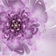 Smooth violet flower, fractal graphic - Stock Photo