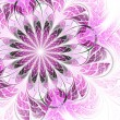 Bright pink flower, fractal graphic — Stock Photo