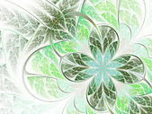 Lucky green fractal flower or cloverleaf — Stock Photo