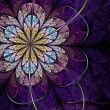 Stock Photo: Violet fractal flower