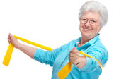 Senior woman at gym — Stock Photo