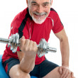 Senior man in gym - Stock Photo
