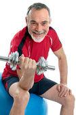 Senior man in gym — Stockfoto