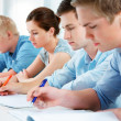 Group of students in classroom — Stock Photo #8929059
