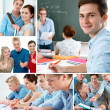 Bildung-collage — Stockfoto