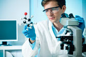 Scientist working at the laboratory — Stock Photo