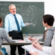 Teacher with high school students — Stock Photo #9274546