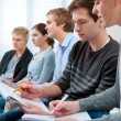 Group of students in classroom — Stock Photo #9274586